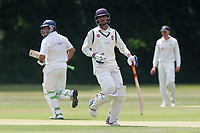 N Gabhawala adds to the Ilford total during Wanstead and Snaresbrook CC vs Ilford CC, Shepherd Neame Essex League Cricket at Overton Drive on 17th June 2017