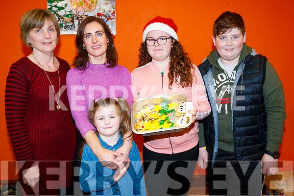 Cáit Griffin, Muireann Ní Loingsigh and Aobh Ní Loingsigh Murray, Naoise Shanahan and Luke O'Sullivan, pictured at Gaelscoil Mhic Easmainn Christmas Craft Fair on Sunday last.