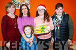 Cáit Griffin, Muireann Ní Loingsigh and Aobh Ní Loingsigh Murray, Naoise Shanahan and Luke O'Sullivan, pictured at Gaelscoil Mhic Easmainn Christmas Craft Fair on Sunday last.