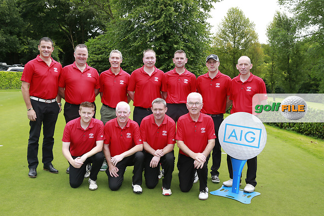Moyola Park Team Team ahead of the final of the AIG Pierce Purcell Ulster Final, in Dunmurry Golf Club, Belfast, Ireland. 13/08/2017<br /> Picture: Fran Caffrey / Golffile<br /> <br /> All photo usage must carry mandatory copyright credit (&copy; Golffile | Fran Caffrey)