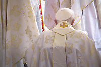 Pope emeritus Benedict XVI,during the canonisation mass of Popes John XXIII and John Paul II on St Peter's at the Vatican on April 27, 2014.