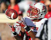 Oct. 22, 2011 - Charlottesville, Virginia - USA; North Carolina State wide receiver Bryan Underwood (80) makes a catch during an NCAA football game against the Virginia Cavaliers at the Scott Stadium. NC State defeated Virginia 28-14. (Credit Image: © Andrew Shurtleff/