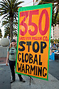 "Large ""350 Parts Per Million CO2 - Stop Global Warming"" banner. Hundreds of people gathered in downtown San Francisco for 350.org's International Day of Climate Action, October 24, 2009. Greenpeace, Mobilization for Climate Justice, and many others helped put on the local event. California, USA"