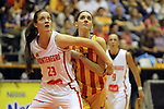 Catalunya vs Montenegro: 83-57.<br /> Miriam Foraster vs Violeta Lazarevic.
