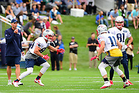 July 27, 2017: New England Patriots wide receiver Danny Amendola (80) tries to cover wide receiver Julian Edelman (11) at the New England Patriots training camp held on the practice field at Gillette Stadium, in Foxborough, Massachusetts. Eric Canha/CSM