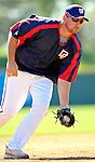 6 March 2007: Washington Nationals third baseman Ryan Zimmerman warms up prior to facing the Atlanta Braves at Space Coast Stadium in Viera, Florida. <br /> <br /> Mandatory Photo Credit: Ed Wolfstein Photo
