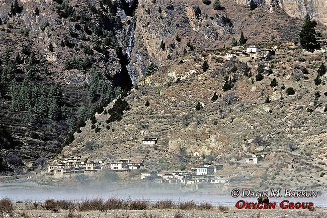 Dry Riverbed & Sandstorm With Village