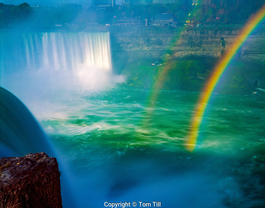 Rainbow at Horseshoe Falls  Niagara Reservation State Park, New York  Niagara River, Lakes Ontario and Erie Western New York near Buffalo   July