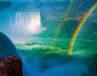 Rainbow at Horseshoe Falls  Niagara Reservation State Park, New York  Niagara River, Lakes Ontario and Erie Western New York near Buffalo   July
