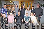 FRIENDS: Friends meet up at Bella Bia Restaurant, Tralee on New Years Night Friday,Front l-r: Jennifer Quirke, Judy and Marian Miller, Cathy and Amy O'hara. Back l-r: Gary Kissane, Michelle O'Hara, Miriam O'Hara, Joe Breen, Kay O'Hara-Flynn, Paul Flynn,Fiona Kissane, Alan O'Donoghue and Greg Kissane...... . ............................... ..........