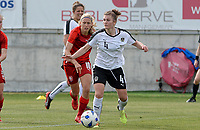 20180302 - LARNACA , CYPRUS : Austrian Viktoria Pinther (r) pictured with Czech Katerina Svitkova (left) during a women's soccer game between Austria and Czech Republic , on friday 2 March 2018 at the AEK Arena in Larnaca , Cyprus . This is the second game in group B for Austria and Czech Republic during the Cyprus Womens Cup , a prestigious women soccer tournament as a preparation on the World Cup 2019 qualification duels. PHOTO SPORTPIX.BE | DAVID CATRY