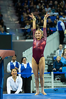 Los Angeles, CA - March 10, 2019.   UCLA defeated Stanford in a women's gymnastics dual meet.