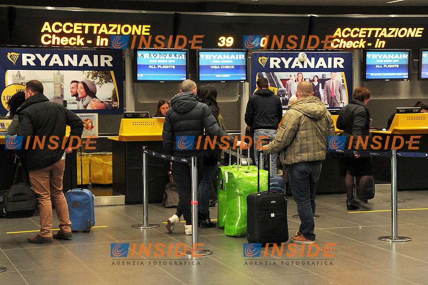 aeroporto Orio al Serio <br /> Bergamo Orio Al Serio 27/01/2015 foto Andrea Ninni/Image/Insidefoto