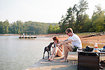Meghan and Tomas at Lake Lanier, in Gainesville, Georgia.