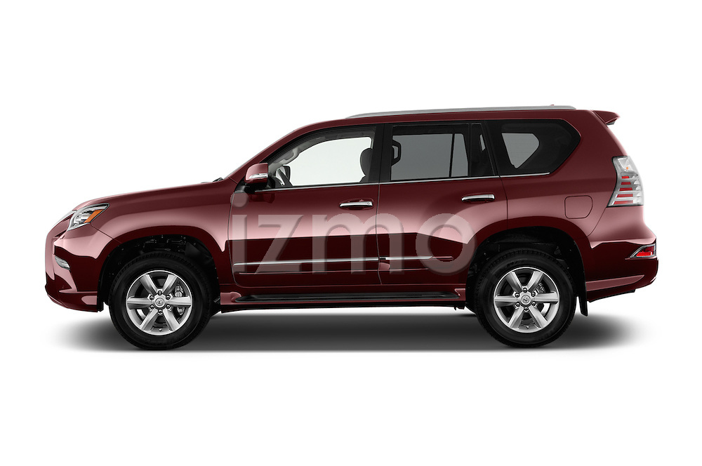Car Driver side profile view of a 2017 Lexus GX 460 5 Door SUV Side View