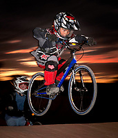 Pauly Bergdahl, 7,  catches some air, while working on his skills at the Chandler BMX track.  Riders of all ages race and practice at Chandler  BMX at Frye and McQueen in Chandler.