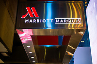 NEW YORK, NY - DECEMBER 1: General view of the Marriott International hotel in Times Square on December 1, 2018 in New York. The largest hotel chain in the world, The Marriott International, has announced that it had suffered a massive data breach that affected round 500 million customers worldwide. (Photo by Eduardo MunozAlvarez/VIEWpress)