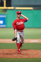 Philadelphia Phillies pitcher William Stewart (58) during an instructional league game against the New York Yankees on September 29, 2015 at Brighthouse Field in Clearwater, Florida.  (Mike Janes/Four Seam Images)