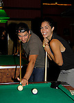 Bryan Craig & Kelly Thiebaud shoot pool at 15th Southwest Florida Soapfest 2014 Charity Weekend with a Bartending/Karaoke get together on May 26, 2104 at Porky's, Marco Island, Florida Photo by Sue Coflin/Max Photos)