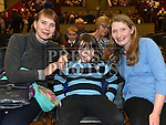 Olga McArdle, Diane and Matthew Brennan at the Ruth Kelly Brady concert in aid of the Make a Wish Foundation held in the Bohemian Centre Ardee. Photo:Colin Bell/pressphotos.ie