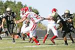 Palos Verdes, CA 09/10/09 - Matt Hezlep (#16). Jordan Moore (Lakewood #21), Kevin Young (#87)