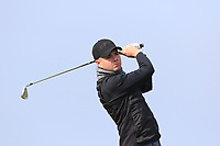Reece Black (Hilton Templepatrick) on the 1st tee during Round 3 of The West of Ireland Open Championship in Co. Sligo Golf Club, Rosses Point, Sligo on Saturday 6th April 2019.<br /> Picture:  Thos Caffrey / www.golffile.ie