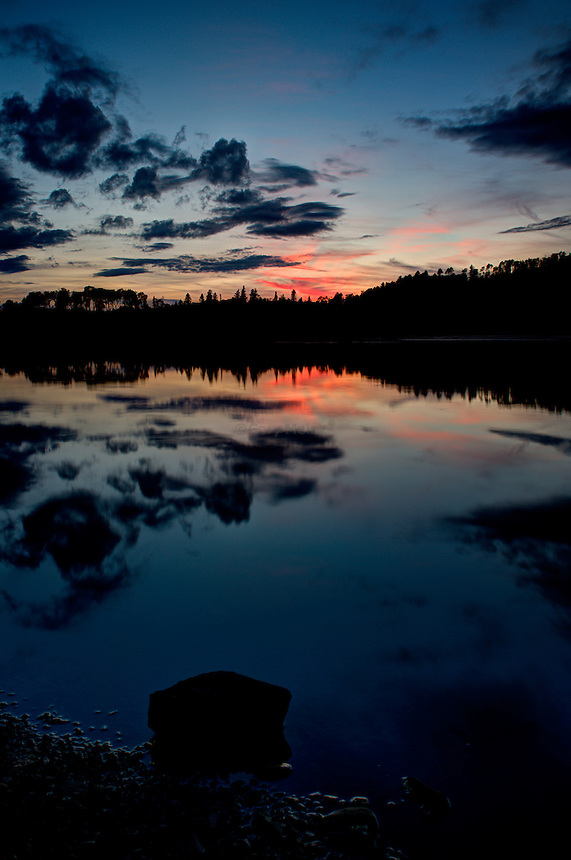 Sunset at Holly Lake near Lutsen, Minnesota
