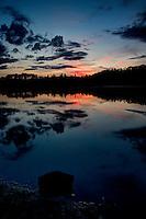 Sunset at Holly Lake near Lutsen, Minnesota
