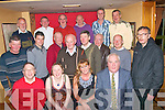 Christmas Crackers.------------------.St Brendans Pk Dynamos KDL Tralee,had a great evening in Stokers Lodge last Friday night for their annual Christmas party(seated)L-R Bernie Keane,Magela Starlet,Yvonne Quill and Tom Walsh(2nd row)L-R Joe O'Sullivan,Maurice Moriarty,Brendan Kerins,Ger Graney,Joe Hoare,Joe Foley,Pat Hewson and Seamus Devane(back)L-R Liam Geary,Mike Conway,Donie McCanon,Richie O'Halloran and John&Danial Moriarty..