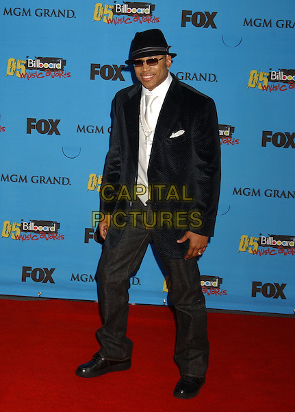 LL COOL J.2005 Billboard Music Awards held at the MGM Grand Hotel & Casino, Las Vegas, Nevada..December 6th, 2005.Photo: Laura Farr/AdMedia/Capital Pictures.Ref: LF/ADM.full length sunglasses shades hat black suit jacket jeans denim.www.capitalpictures.com.sales@capitalpictures.com.© Capital Pictures.
