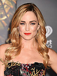 HOLLYWOOD, CA - NOVEMBER 13: Actress Caity Lotz arrives at the Premiere Of Warner Bros. Pictures' 'Justice League' at the Dolby Theatre on November 13, 2017 in Hollywood, California.