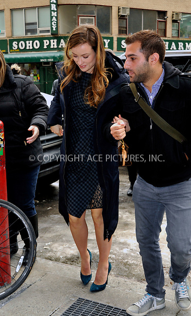 WWW.ACEPIXS.COM<br /> <br /> February 26 2015, New York City<br /> <br /> Actress Olivia Wilde makes the round of TV and Radio shows on February 26 2015 in New York City<br /> <br /> By Line: Curtis Means/ACE Pictures<br /> <br /> <br /> ACE Pictures, Inc.<br /> tel: 646 769 0430<br /> Email: info@acepixs.com<br /> www.acepixs.com