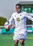 3 October 2015: University of Vermont Catamount Forward Bernard Yeboah, a Junior from Worcester, MA, in action against the Binghamton University Bearcats at Virtue Field in Burlington, Vermont. The Catamounts were unable to complete a late game rally, falling to the Bearcats 2-1 in America East conference play. Mandatory Credit: Ed Wolfstein Photo *** RAW (NEF) Image File Available ***