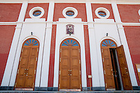 Open door of the Iversky convent (female monastery) in Samara, Russia