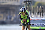 Garikoitz Bravo Oiarbide (ESP) Euskadi-Murias during Stage 1 of the La Vuelta 2018, an individual time trial of 8km running around Malaga city centre, Spain. 25th August 2018.<br /> Picture: Eoin Clarke | Cyclefile<br /> <br /> <br /> All photos usage must carry mandatory copyright credit (© Cyclefile | Eoin Clarke)
