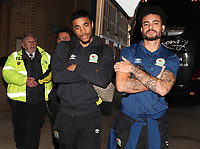 Blackburn Rovers' Derrick Williams and Blackburn Rovers' Dominic Samuel arrive at the ground<br /> <br /> Photographer Rachel Holborn/CameraSport<br /> <br /> The EFL Sky Bet League One - Gillingham v Blackburn Rovers - Tuesday 10th April 2018 - Priestfield Stadium - Gillingham<br /> <br /> World Copyright &copy; 2018 CameraSport. All rights reserved. 43 Linden Ave. Countesthorpe. Leicester. England. LE8 5PG - Tel: +44 (0) 116 277 4147 - admin@camerasport.com - www.camerasport.com