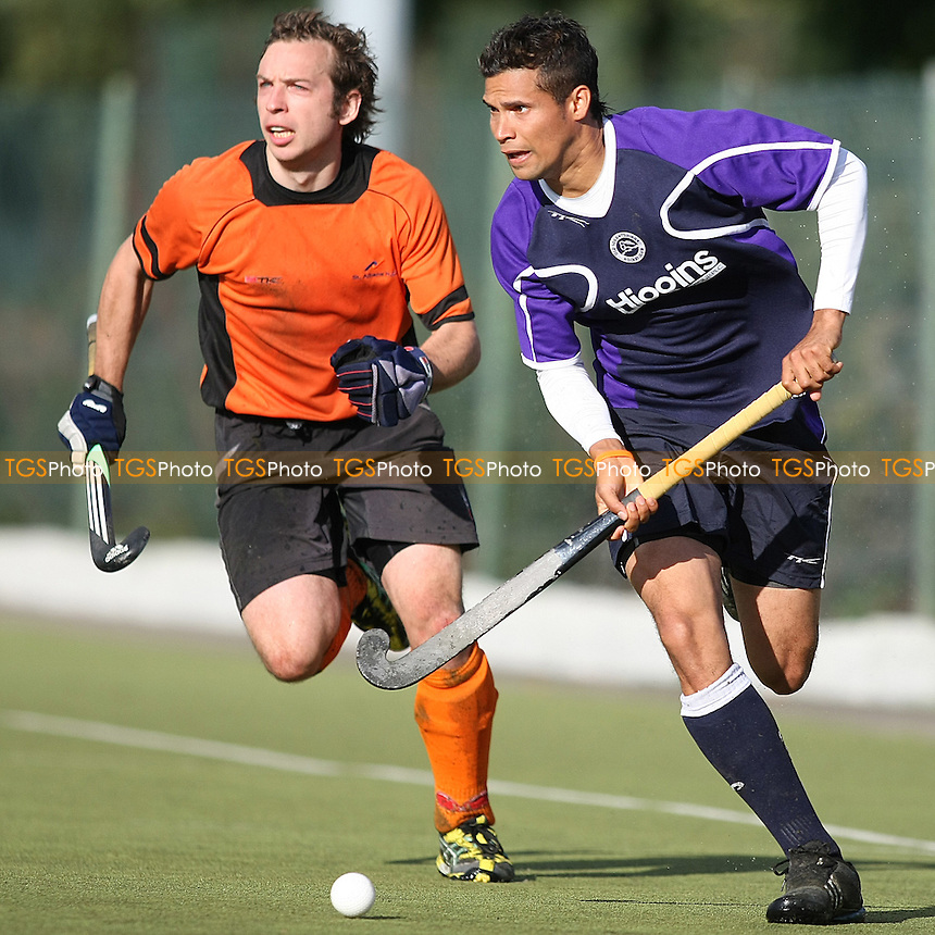 Leroy Phillips of Old Loughtonians- Old Loughtonians HC vs St Albans HC - England Hockey League Men's Conference East at Luxborough Lane  - 25/09/10 - MANDATORY CREDIT: George Phillipou/TGSPHOTO - Self billing applies where appropriate - 0845 094 6026 - contact@tgsphoto.co.uk - NO UNPAID USE..