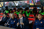 FC Barcelona´s coach Gerardo `Tata´ Martino (C) during a second leg quarterfinal Champions League soccer match between Atletico de Madrid and FC Barcelona at Vicente Calderon stadium in Madrid, Spain. April 09, 2014. (ALTERPHOTOS/Victor Blanco)