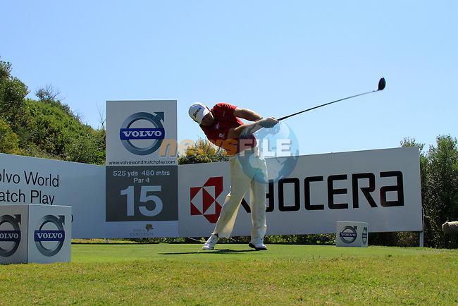 Graeme McDowell (N.IRL) tees off on the 15th tee during the morning session on Day 3 of the Volvo World Match Play Championship in Finca Cortesin, Casares, Spain, 21st May 2011. (Photo Eoin Clarke/Golffile 2011)