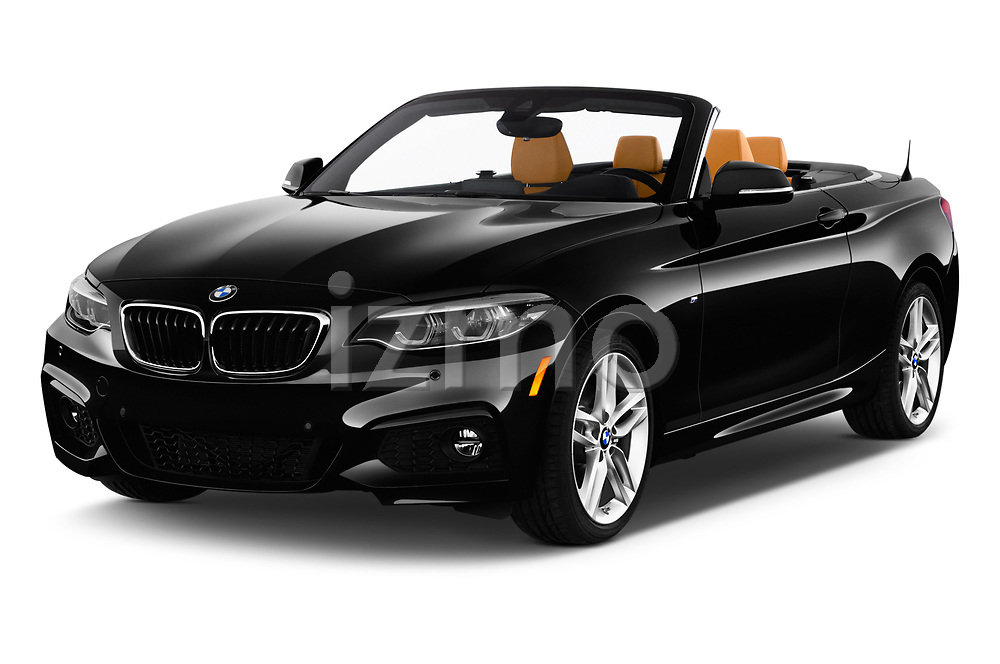 2018 BMW 2 Series M-Sport 2 Door Convertible angular front stock photos of front three quarter view