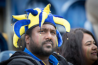 A Sri Lankan fan looking a little disconctered as his team slump to 180-8 during Afghanistan vs Sri Lanka, ICC World Cup Cricket at Sophia Gardens Cardiff on 4th June 2019