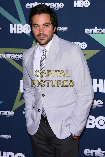 Rhys Coiro.The Premiere for the Final Season of HBO's 'Entourage' at the Beacon Theatre, New York, NY, USA. .July 19th, 2011.half length grey gray suit jacket beard facial hair .CAP/LNC/TOM.©TOM/LNC/Capital Pictures.