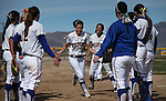 Makenzie Hospodka takes the field for Western Nevada College in a college softball game against Snow College at Edmonds Sports Complex in Carson City, Nev., on Friday, March 6, 2014. <br /> Photo by Cathleen Allison/Nevada Photo Source