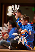 Inu-Yupiaq Dancers of the University of Alaska Fairbanks, perform native dance at the 2009 Festival of Native Arts, Fairbanks, Alaska. The festival is one of interior Alaska's greatest celebrations of Alaska Native culture.