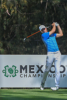 Jordan Spieth (USA) watches his tee shot on 16 during the preview of the World Golf Championships, Mexico, Club De Golf Chapultepec, Mexico City, Mexico. 2/28/2018.<br /> Picture: Golffile | Ken Murray<br /> <br /> <br /> All photo usage must carry mandatory copyright credit (&copy; Golffile | Ken Murray)