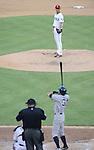 Yu Darvish (Rangers), Ichiro Suzuki (Yankees),<br /> JULY 22, 2013 - MLB :<br /> Yu Darvish of the Texas Rangers and Ichiro Suzuki of the New York Yankees in the sixth inning during the Major League Baseball game at Rangers Ballpark in Arlington in Arlington, Texas, United States. (Photo by AFLO)