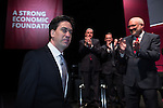 © Joel Goodman - 07973 332324 . 13/04/2015 . Manchester , UK . Labour Party leader ED MILIBAND arrives to launch the Labour Party manifesto ahead of the General Election at the Old Granada Studios in Manchester , UK . Photo credit : Joel Goodman