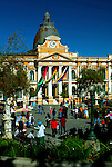 Plaza Murillo is popular with vendors and families, and is the historical and political center of La Paz.  The domed National Congress Building is a government palace in the square.