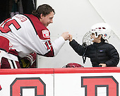Seb Lloyd (Harvard - 15) - The Harvard University Crimson defeated the Brown University Bears 4-3 to sweep their first round match up in the ECAC playoffs on Saturday, March 7, 2015, at Bright-Landry Hockey Center in Cambridge, Massachusetts.