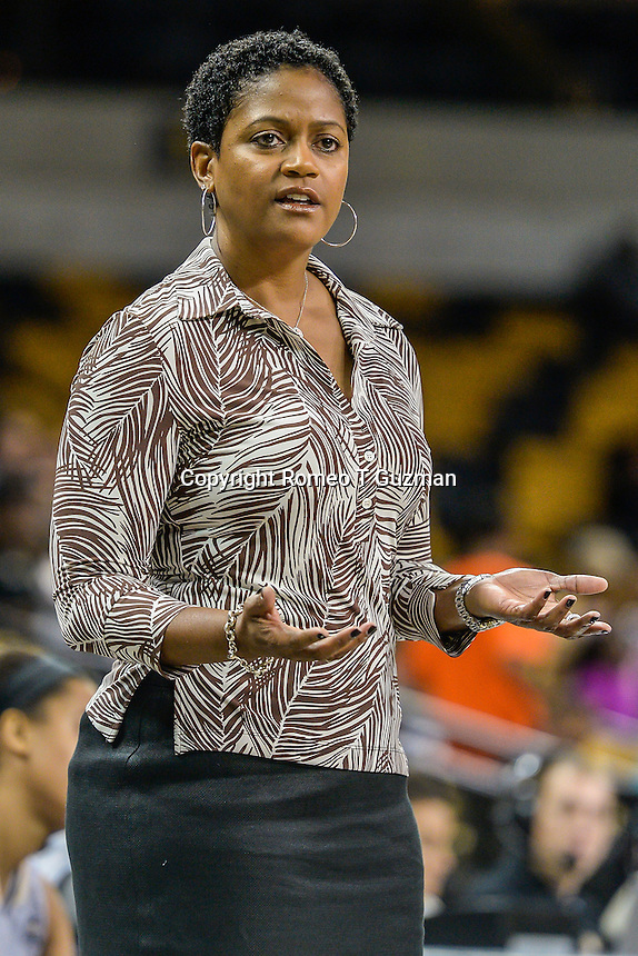 November 15, 2013 - Orlando, FL, U.S: UCF head coach Joi Williams during second half women's NCAA basketball game action between the FIU Panthers and the UCF Knights. UCF defeated FIU 71-66 at CFE Arena in Orlando, Fl.